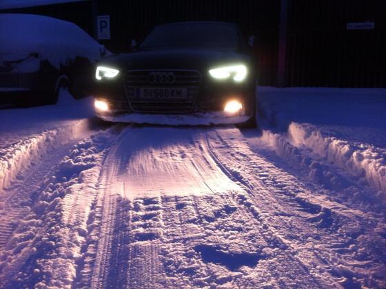 Mein S5 SB als Schneepflug :)